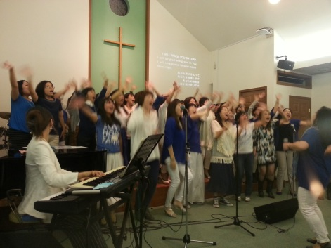 Kveldsmøte på gospelkor konferanse. Det var liv!!